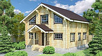 Дом деревянный из оцилиндрованного бревна 9х9