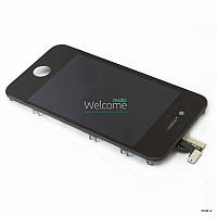 IPhone4G LCD with touch and frame black orig (TEST)