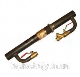 Байпас стальной для отопления длинный с латунным клапаном 40