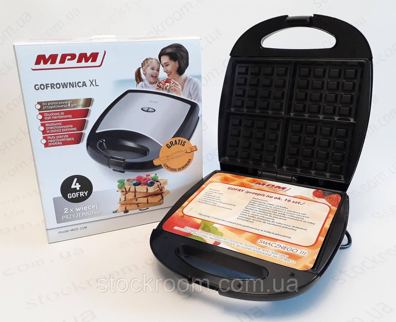 Вафельница MPM MGO-22M  мощностью 1300 Вт