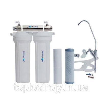 Фильтр для воды под мойку трёхступенчатый с UV установкой FP-2E-UV