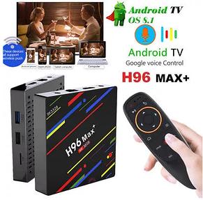 TV Box H96 MAX + VOICE 4GB/32GB Android 8.1/X96,X92,MX10,Xiaomi Mi BOX, фото 2