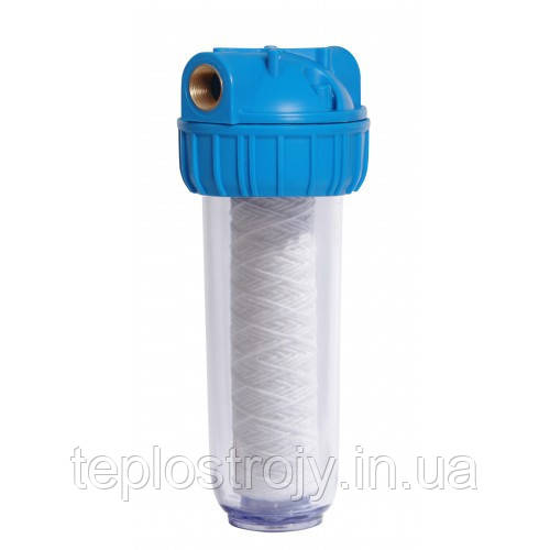 """Фильтр для воды Колба 3Р 10"""" 1"""" в комплекте картридж, ключ, крепление"""