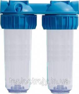 """Фильтр для воды Колба 3Р DUO 10"""" 1/2"""" в комплекте ключ, крепление"""