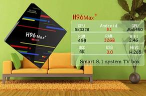 TV Box H96 MAX + 4GB/32GB Android 8.1/X96,A1,X92,MX10,Xiaomi Mi BOX 3, фото 2