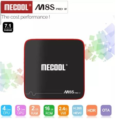 TV Box Mecool M8S PRO W 2GB/16GB Android 7.1 X96,TX3,A95X,W95 Оригинал