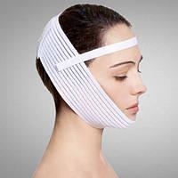 Эластичный бандаж для лица Aurafix LC-1810 с фиксатором (компресионная маска)