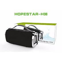 Беспроводная портативная влагозащищенная стерео колонка Hopestar H36 Mini Супер Басы черная, фото 3