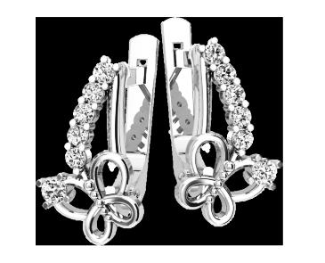 Серьги серебряные Бабочка 41152