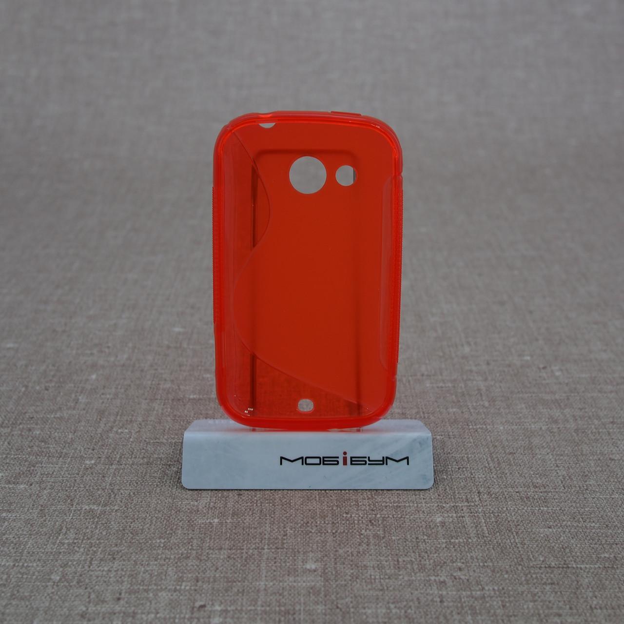 Чехол TPU Duotone HTC Desire C red Для телефона