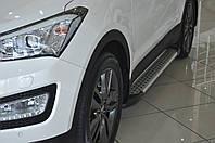 "Боковые площадки ""X5-тип"" Hyundai Santa Fe 3 (2012+)"