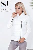 Женская курточка с кашемировыми вставками