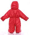 Детский комбинезон трансформер зимний (красный со звездами), фото 2