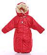 Детский комбинезон трансформер зимний (красный со звездами), фото 4