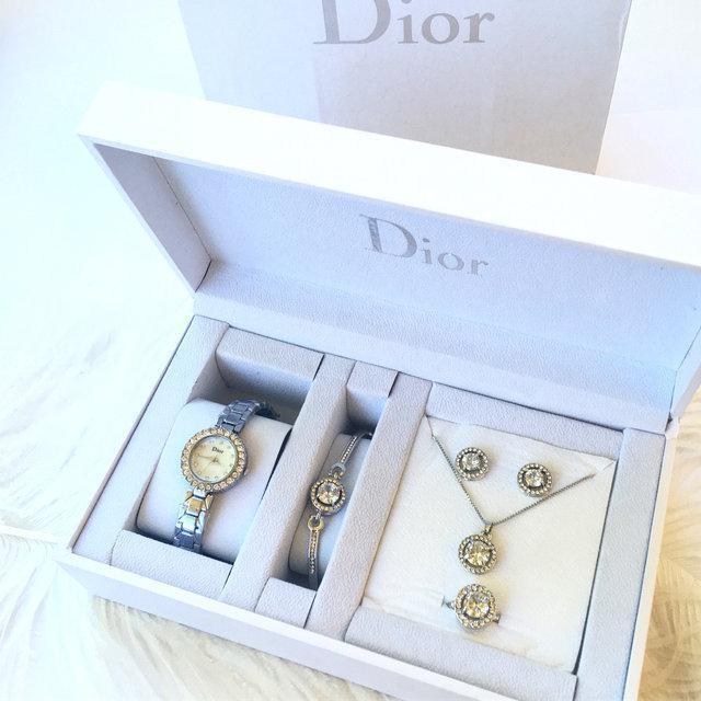 Часы подарочные DIOR silver (набор)