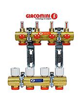 Коллектор Giacomini для систем отопления с лучевой разводкой на 6 контуров, фото 1