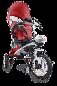 Детский трехколесный велосипед с ручкой Lionelo Tim Plus красный