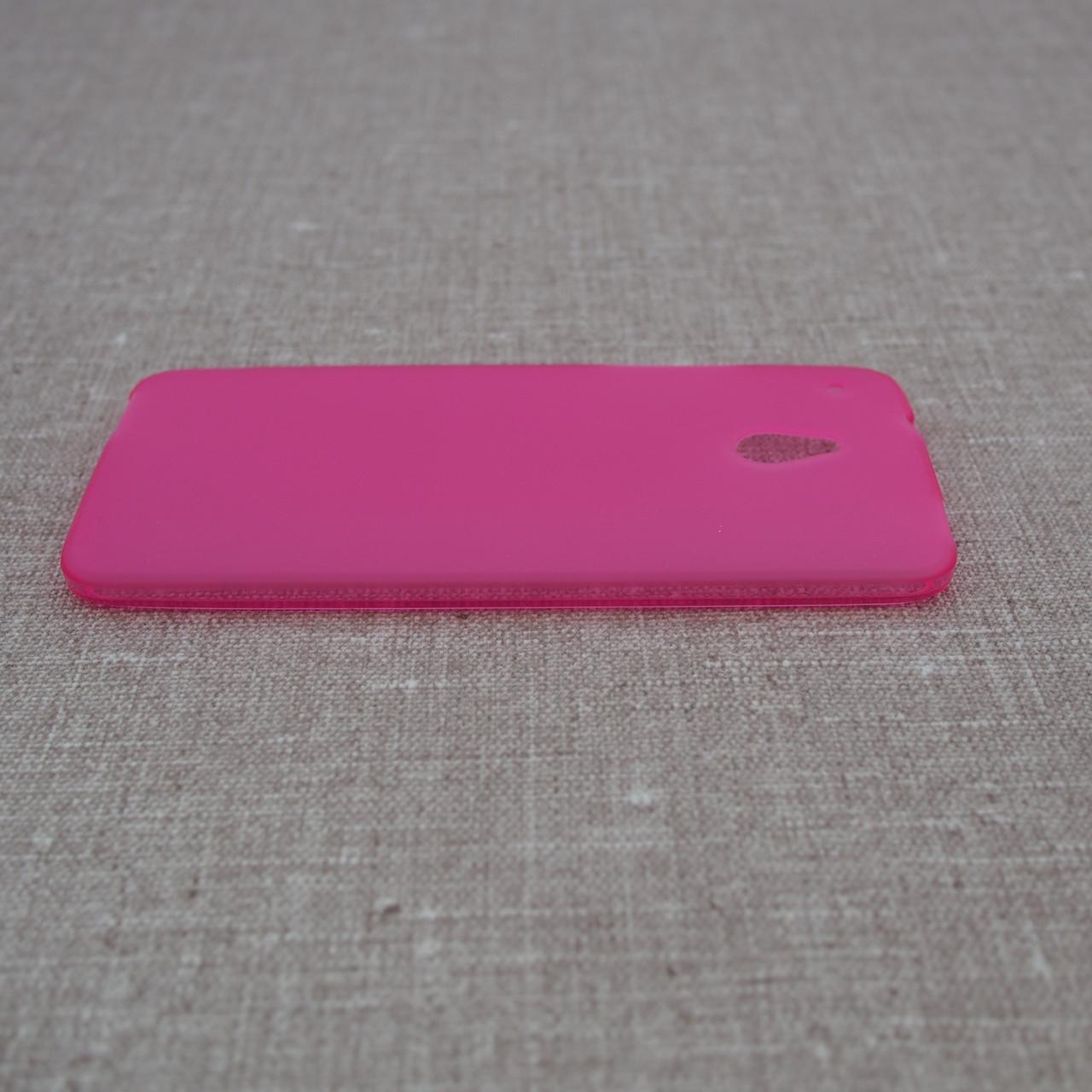 Чехол TPU HTC One mini M4 pink Для телефона