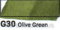 Маркер SKETCHMARKER долото-тонкое перо G030 Olive Green Оливковый зеленый, фото 2