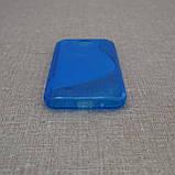 Чехол TPU Duotone HTC Desire 300 blue, фото 3