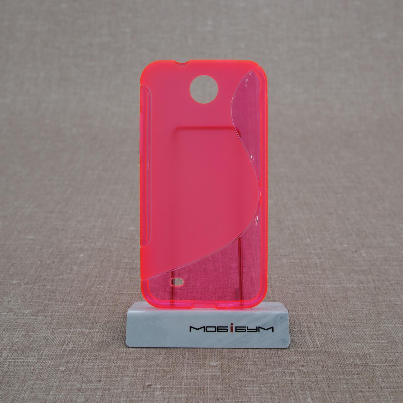 Чехол TPU Duotone HTC Desire 300 pink