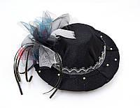 Шляпка Черная на заколках, фото 1