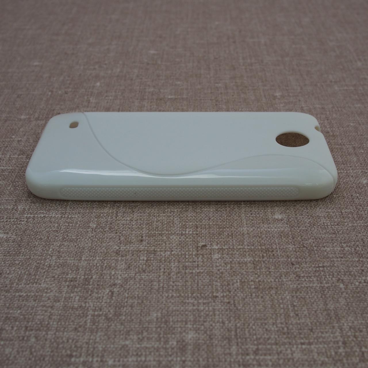 Чехол TPU Duotone HTC Desire 300 white