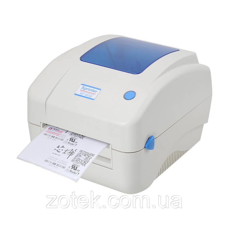Xprinter XP-490B Термопринтер для печати этикеток 20-108мм (с отслаиванием этикеток) для Новой Почты (XP-425B)