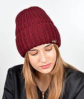 Молодежная шапка на флисе 3377 Марсала, фото 1