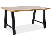 Стіл обідній в стилі Лофт у вітальню Abramo 150x90 dąb** Signal
