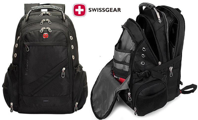 Швейцарский городской рюкзак SwissGear 8810 с AUX и USB выходами, непромокаемый