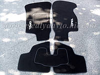 Ворсовые коврики в салон OPEL Astra G /Classic с 1998-2004 гг. (Черные)