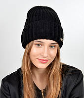Молодежная шапка на флисе 3377 Черный, фото 1