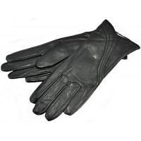 Рукавички жіночі шкіряні чорні. Розмір 6,5.