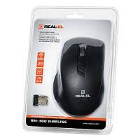 Мышка REAL-EL RM-303 Wireless Black/Grey USB, фото 1