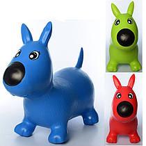 Стрибун дитячий Собачка гумовий надувний різні кольори 1592