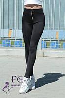 Лосины женские с высокой посадкой черные 070/02