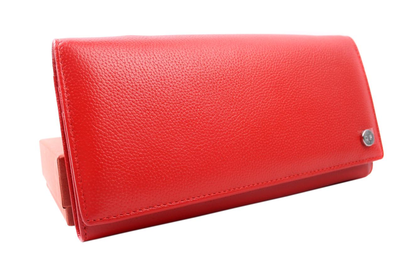 Стильный женский кошелек Loro piana из натуральной кожи, цвет красный