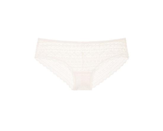 Victoria's Secret Трусики Чики Lace Cheeky Panty S, Белый Кокос