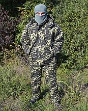 Костюм зимовий куртка довга + штани Піксель р. 48-50