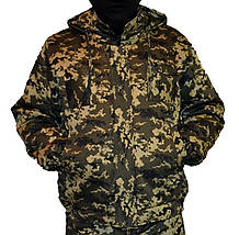 Куртка зимова на резинці Піксель з капюшоном р. 48-58
