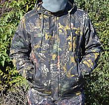 Куртка зимова під гумку Дубок з капюшоном темне хутро + синтепон р. 48-58 50