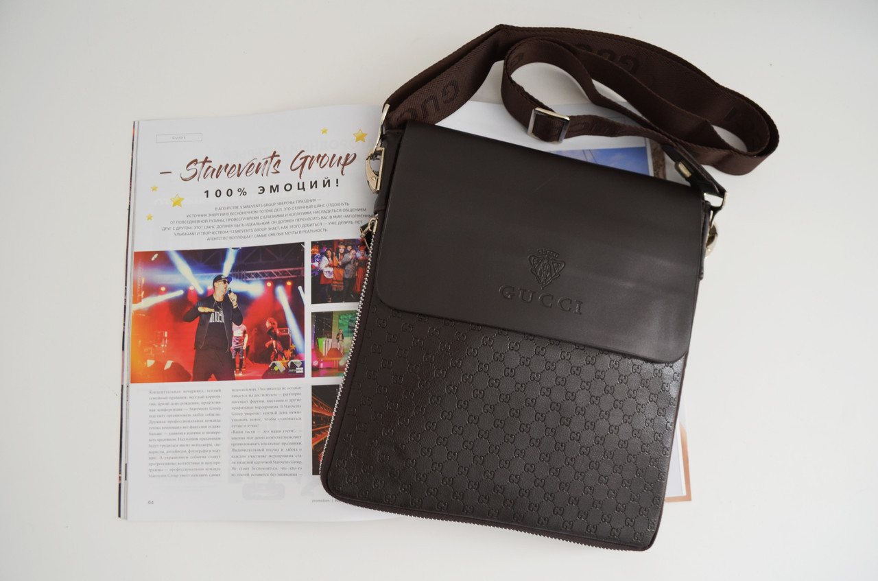 9b923fbe2d16 Мужская сумка Gucci(Гуччи) через плечо копия - Інтернет магазін