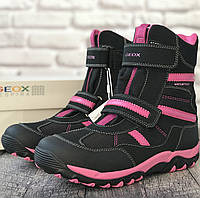 Зимние водонепроницаемые ботинки Geox (Италия) р 39. зимняя обувь джеокс