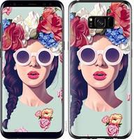 "Чехол на Samsung Galaxy S8 Plus Девушка с цветами ""2812c-817-14165"""