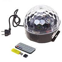 Диско шар музыкальный Magic Ball LED с пультом и флешкой