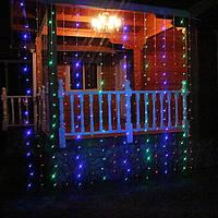 Гирлянда на окно 3x1м 200 лампочек