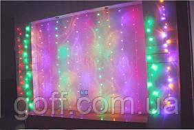 Гирлянда-штора 3x1м 200 LED Мультиколор