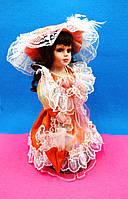 Кукла в оранжевом, декор для дома