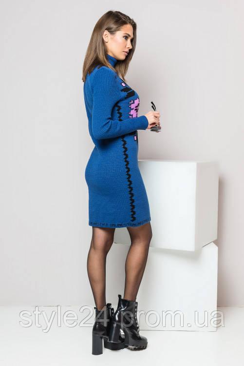 ЖІноче вязане плаття під шию з орнаментом.Р-ри 44-50  продажа 376540a23ab9b